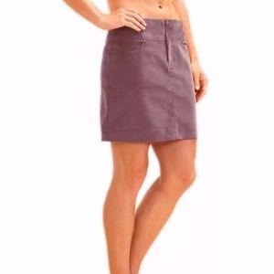 """Athleta plum """"vintage ridge"""" mini skirt"""